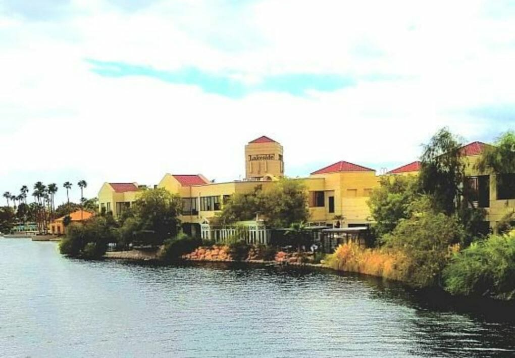 Image of Lakeside Event Center from across the lake