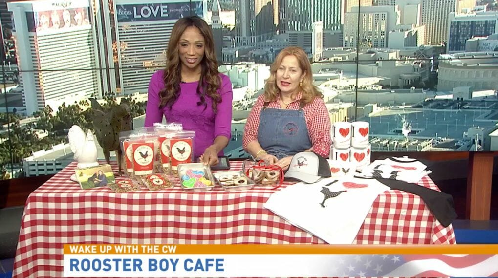 Rooster Boy Cafe Chef Sonia on Channel 3 News with Anchor Krystal Allan