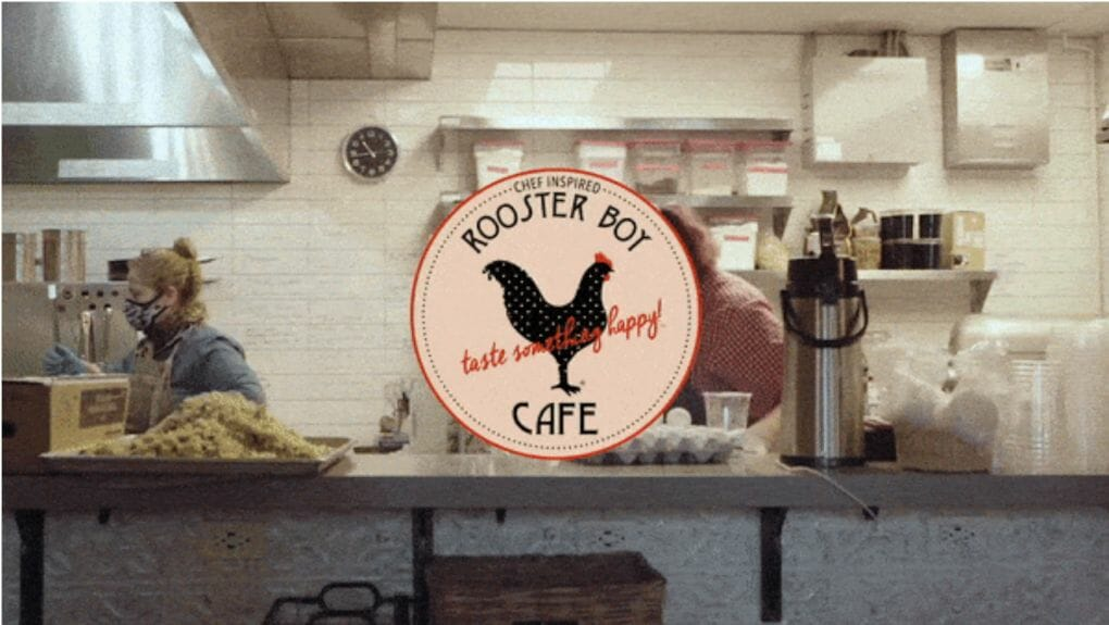 Rooster Boy Cafe image with Chef Sonia in the kitchen